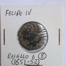 Monedas de España: FELIPE IV RESELLO A 8 MARAVEDÍS (1651-52). Lote 204727025