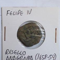 Monedas de España: FELIPE IV RESELLO DE ANAGRAMA (1658-59). Lote 204727735