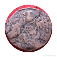 Monedas de España: CURIOSA PRUEBA 100 REALES ISABEL 1858 EN BRONCE. CECA MADRID. Lote 204778037