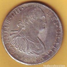 Monedas de España: CARLOS IV 8 REALES MEXICO T.H. AÑO 1804. Lote 204972526