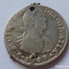 Monedas de España: MONEDA DE PLATA DE 1 REAL DE FERNANDO VII DE 1809, CECA DE MEXICO, ENSAYADORES T H , RARA, VER BIEN. Lote 204994970