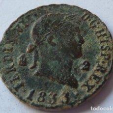 Monedas de España: MONEDA DE 2 MARAVEDIS DE FERNANDO VII DE 1833 CECA DE SEGOVIA, ADMITE LIMPIEZA. Lote 204997040