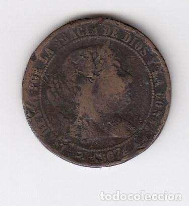 FECHA ESCASA MONEDA DE ISABEL II SEGOVIA (COBRE) 2 1/2 CÉNTIMOS DE ESCUDO 1867 OM. BC (Numismática - España Modernas y Contemporáneas - De Isabel II (1.834) a Alfonso XIII (1.931))