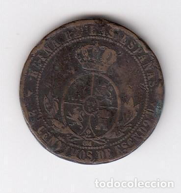 Monedas de España: fecha escasa moneda de isabel ii segovia (cobre) 2 1/2 céntimos de escudo 1867 om. bc - Foto 2 - 205121112