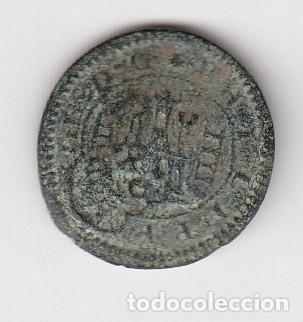 Monedas de España: escasa moneda felipe III 4 maravedis (cobre) 1620 ceca segovia (pátina verde) mbc - Foto 2 - 205128981