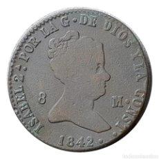 Monedas de España: ISABEL 2ª SEGOVIA 8 MARAVEDIS 1842. Lote 202397176