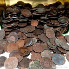 Monedas de España: LOTE 5 KILOS MONEDAS DE COBRE S XIX TODAS ORIGINALES. Lote 205143602