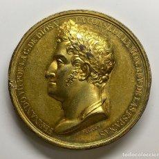 Monedas de España: ¡¡ RARA !! MEDALLA PROCLAMACION BRONCE DORADO FERNANDO VII AÑO 1820. RESTAURACIÓN DE LA CONSTITUCIÓN. Lote 205196503