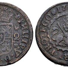 Monedas de España: FELIPE V (1700-1746). 2 MARAVEDÍS. 1744. SEGOVIA. (CAL 2008-1996). AE. 3,69 G. MBC+. Lote 205200601