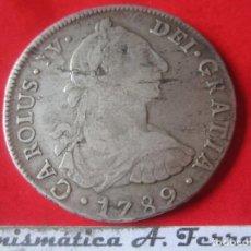 Monedas de España: CARLOS IV. MONEDA DE 8 REALES DE PLATA. 1789. IJ LIMA. Lote 205253833
