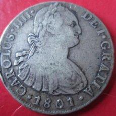 Monedas de España: CARLOS IV. MONEDA DE 8 REALES DE PLATA. 1801. IJ LIMA. Lote 205254552