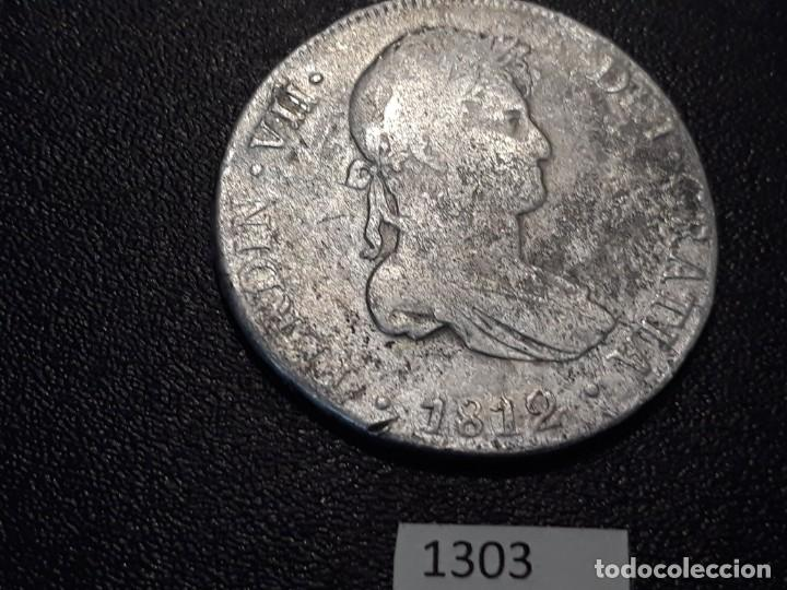 8 REALES FERNANDO VII 1812, CECA LIMA (Numismática - España Modernas y Contemporáneas - De Reyes Católicos (1.474) a Fernando VII (1.833))
