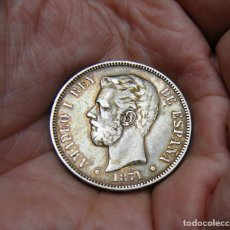 Monedas de España: AMADEI I MONEDA DE 5 PESETAS 1871*1875 PLATA. Lote 205326836
