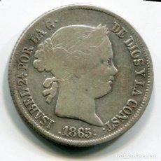 Monedas de España: ISABEL II - 40 CENTIMOS DE ESCUDO DE PLATA - 1865 - SEVILLA. Lote 205371913