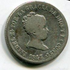 Monedas de España: ISABEL II - 2 REALES DE PLATA - 1844 - MADRID. Lote 205372770