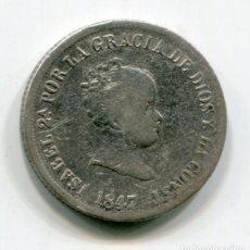 Monedas de España: ISABEL II - 2 REALES DE PLATA - 1847 - MADRID. Lote 205373017