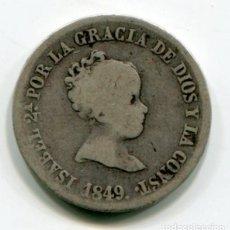 Monedas de España: ISABEL II - 2 REALES DE PLATA - 1849 - MADRID. Lote 205373495