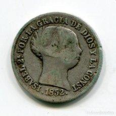Monedas de España: ISABEL II - 2 REALES DE PLATA - 1852 - SEVILLA. Lote 205373636