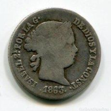 Monedas de España: ISABEL II - 2 REALES DE PLATA - 1863 - SEVILLA. Lote 205374350