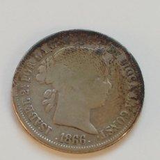 Monedas de España: 40 CÉNTIMOS 1866 ISABEL II. Lote 205756107