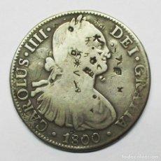 Monedas de España: CARLOS IV 1800, 8 REALES DE LA CECA DE MEXICO, CON RESELLOS CHINOS. LOTE-2873. Lote 205764430