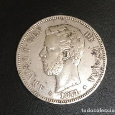 Monedas de España: CINCO PESETAS DE AMADEO I DEL AÑO 1871 * 73. Lote 205815313