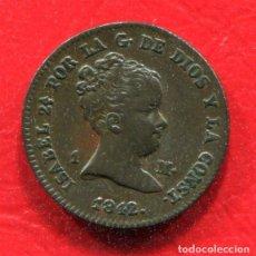 Monedas de España: ISABEL II - 1 MARAVEDI 1842 JUBIA. Lote 205822107