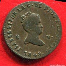 Monedas de España: ISABEL II - 2 MARAVEDIS 1848 JUBIA. Lote 205822498