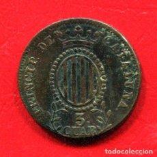 Monedas de España: ISABEL II - 3 CUARTOS 1843 - BARCELONA - CATALUÑA. Lote 205823301