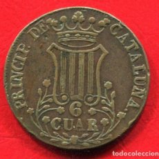 Monedas de España: ISABEL II - 6 CUARTOS 1843 - BARCELONA - CATALUÑA. Lote 205823452