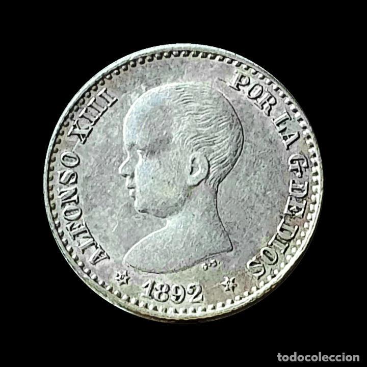 ALFONSO XIII 50 CENTIMOS 1892 SOBRE 89 ESTRELLAS 92 (Numismática - España Modernas y Contemporáneas - De Isabel II (1.834) a Alfonso XIII (1.931))