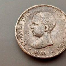 Monedas de España: MONEDA 5 PESETAS 1888 *18 88 FLOJO DURO DE PLATA ESPAÑA ALFONSO XIII. Lote 206339601