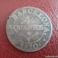 Monedas de España: ESPALA , 4 CUARTOS 1810 , BARCELONA.. Lote 206357757