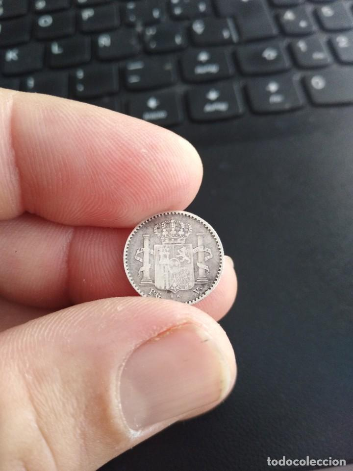 Monedas de España: MONEDA 5 CENTAVOS CINCO DE PESO 1896 ALFONSO XIII PUERTO RICO PGV - Foto 4 - 206358938