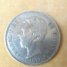 Monedas de España: MONEDA DE PLATA DE 5 PESETAS AMADEO I REY DE ESPAÑA 1971 *71.DURO DE PLATA.. Lote 206359076