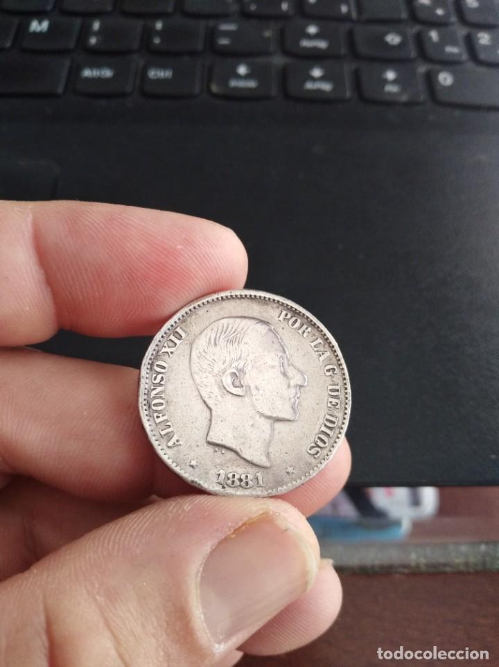 MONEDA 50 CENTAVOS CINCUENTA DE PESO 1881 ALFONSO XII FILIPINAS (Numismática - España Modernas y Contemporáneas - De Isabel II (1.834) a Alfonso XIII (1.931))