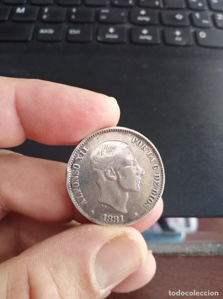 Monedas de España: MONEDA 50 CENTAVOS CINCUENTA DE PESO 1881 ALFONSO XII FILIPINAS - Foto 3 - 206360243