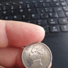 Monedas de España: MONEDA DE UNA 1 PESETA 1903 (19 --) SMV ALFONSO XIII ESTRELLAS NO VISIBLES. Lote 206365828