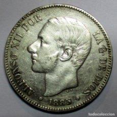Monedas de España: ALFONSO XII, 5 PESETAS DE PLATA 1885 * 18 - 85 CECA DE MADRID-M.S.M. DURO DE PLATA, ESCASA LOTE 2934. Lote 206375298