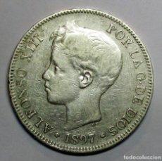 Monedas de España: ALFONSO XIII, 5 PESETAS DE PLATA 1897 * 18 - 97 CECA DE MADRID-S.G.V. LOTE 2741. LOTE 2936. Lote 206376403