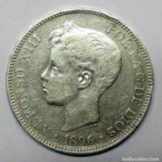 Monedas de España: ALFONSO XIII, 5 PESETAS DE PLATA 1896 * 18 - 96. CECA DE MADRID-P.G.V. LOTE 2938. Lote 206377166