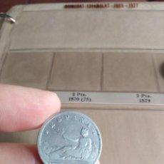 Monedas de España: MONEDA DE 2 PESETAS 1869 SNM (--69) PLATA GOBIERNO PROVISIONAL. Lote 206513111