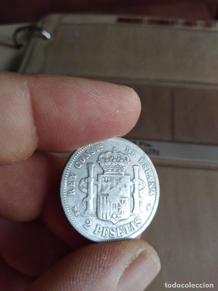 Monedas de España: MONEDA DE 2 PESETAS 1883 MSM (-- --) PLATA ALFONSO XII ESTRELLAS NO VISIBLES - Foto 3 - 206513901
