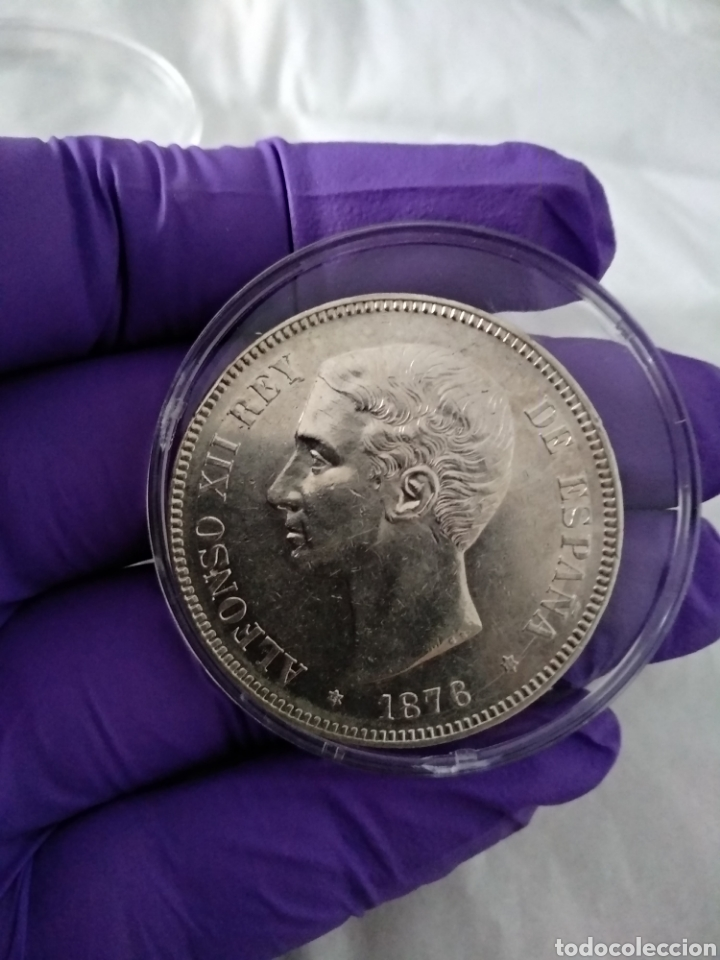 5 PESETAS 1876 *18-76 SC- (Numismática - España Modernas y Contemporáneas - De Isabel II (1.834) a Alfonso XIII (1.931))