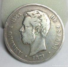 Monedas de España: MONEDA DE PLATA - 5 PESETAS DE AMADEO I, 1871(ESTRELLA 71). Lote 206905427