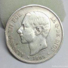 Monedas de España: MONEDA DE PLATA - 5 PESETAS DE ALFONSO XII, 1885 (ESTRELLA 87) MS M. Lote 206906343