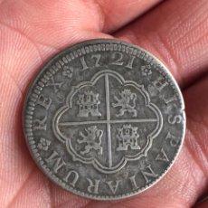 Monedas de España: FELIPE V 2 REALES 1721 CUENCA. Lote 207114691
