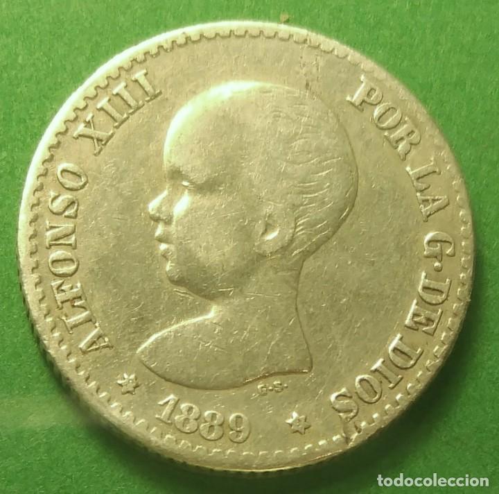 Monedas de España: España 50 CENTIMOS 1889 ESTRELLAS *8*9 ver fotos, PLATA. ¡¡¡¡LIQUIDACION COLECCION!!!!! - Foto 2 - 207280600