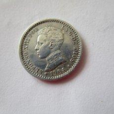 Monedas de España: ALFONSO XIII . 50 CENTIMOS DE PLATA DE 1904 . ESTRELLAS 1 - 0 . ALTA CALIDAD EBC +. Lote 207356162
