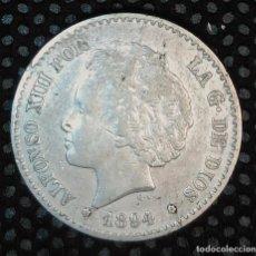 Monedas de España: ESPAÑA 50 CENTIMOS 1894 ESTRELLAS *9*4 EBC VER FOTOS, PLATA. ¡¡¡¡LIQUIDACION COLECCION!!!!!. Lote 207370752